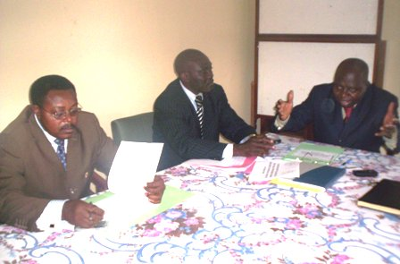Bokandjo (1st from right) explaining trends in public investment budget