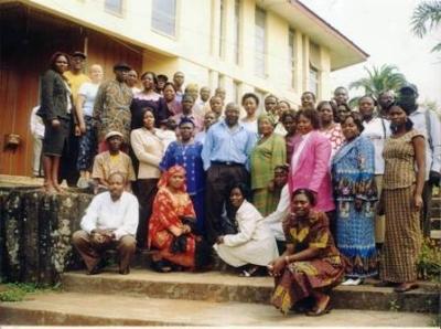 PAFAC members pose after launching of Peer Educators Manual on HIV-AIDS in Bamenda