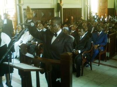 Fonkam Azu'u ELECAM Chairman Taking Oath of Office