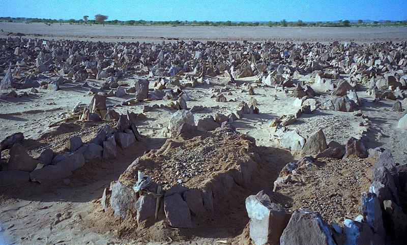 A graveyard outside of Agadez, Niger. 1997.