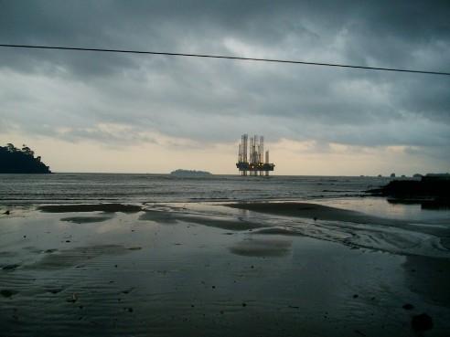 Eyesore_Oil Rig off Down Beach Limbe