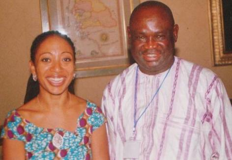 George Ngwane_Samia Nkrumah (Daughter of Kwame Nkrumah)