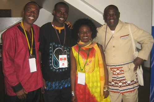 Ngwane with participants at the World Conference on Arts and Culture