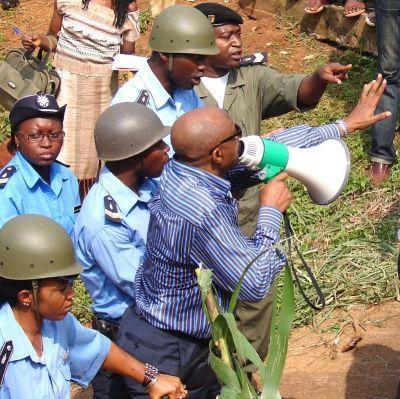Demonstrator in Cameroon