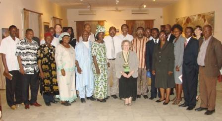 Writers with Ambassador Garvey