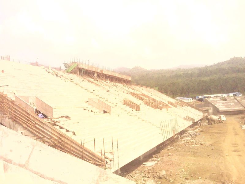 Ongoing construction of 20000-seat stadium at Ngeme, limbe II by a Chinese Company.