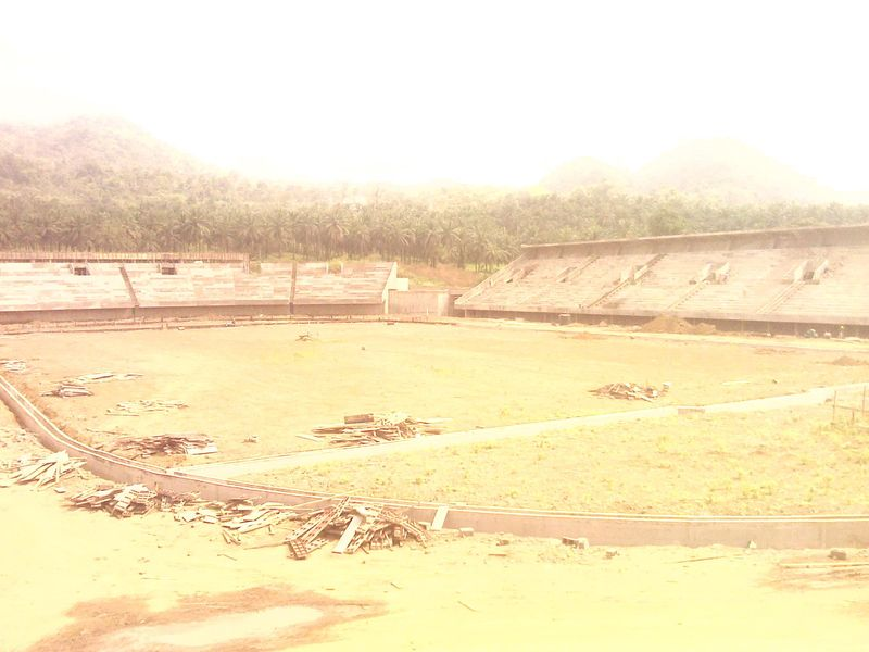 Ongoing construction of 20000 seat stadium at Ngeme, limbe II by a Chinese Company