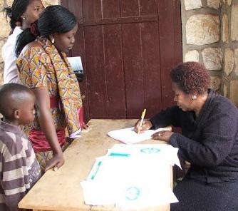 Testing at the Bamenda Center, Cameroon