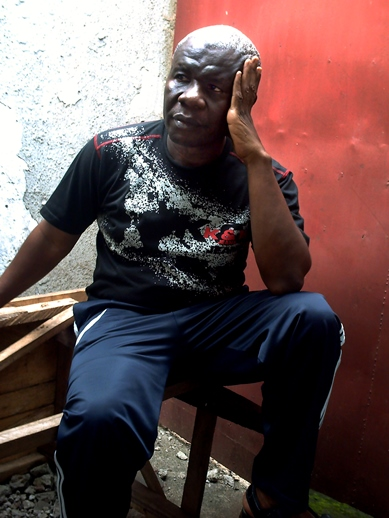 Lapiro de Mbanga in prison November 2009. Photo by Jen Bell.