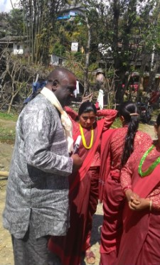 George Ngwane in Nepal