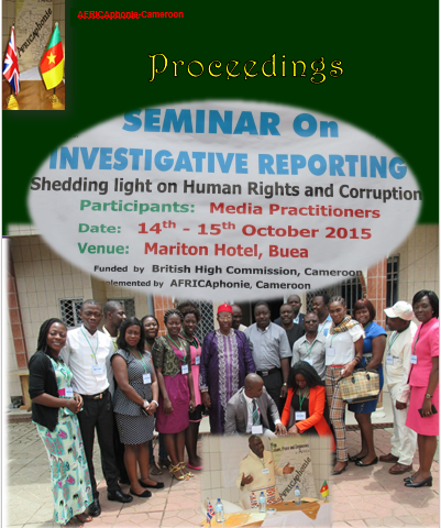 Investigative journalism seminar