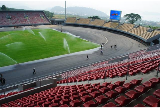 Chinese-built stadium in Ngeme, Limbe