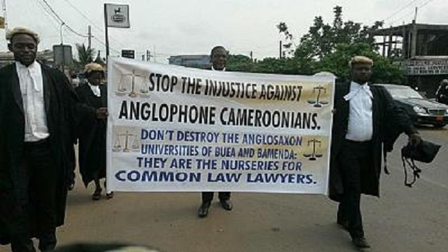 Image result for photos of Cameroonian lawyers on strike